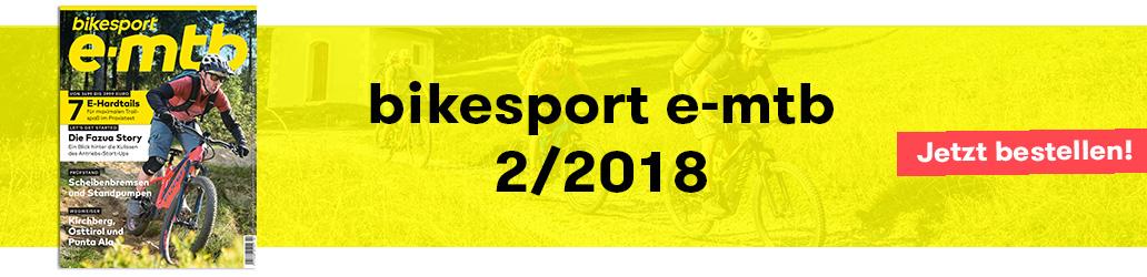 bikesport e-mtb, Ausgabe 2/2018, Banner