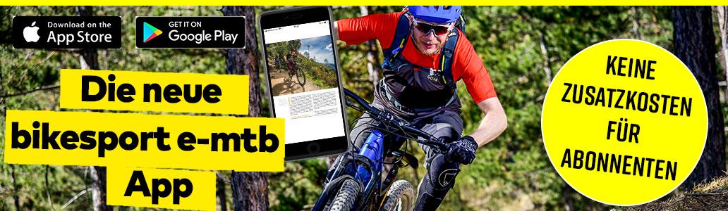 App, bikesport e-mtb, Banner