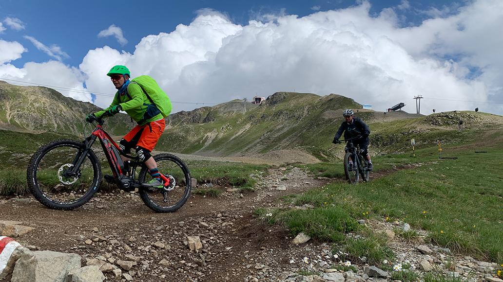 Biken in Davos