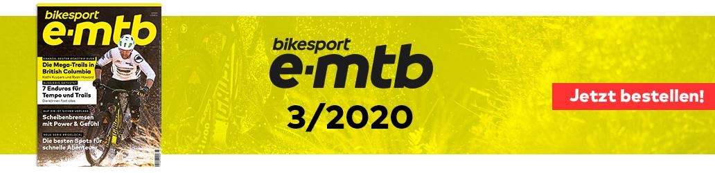 bikesport e-mtb 3/2020, Banner, bikesport e-mtb
