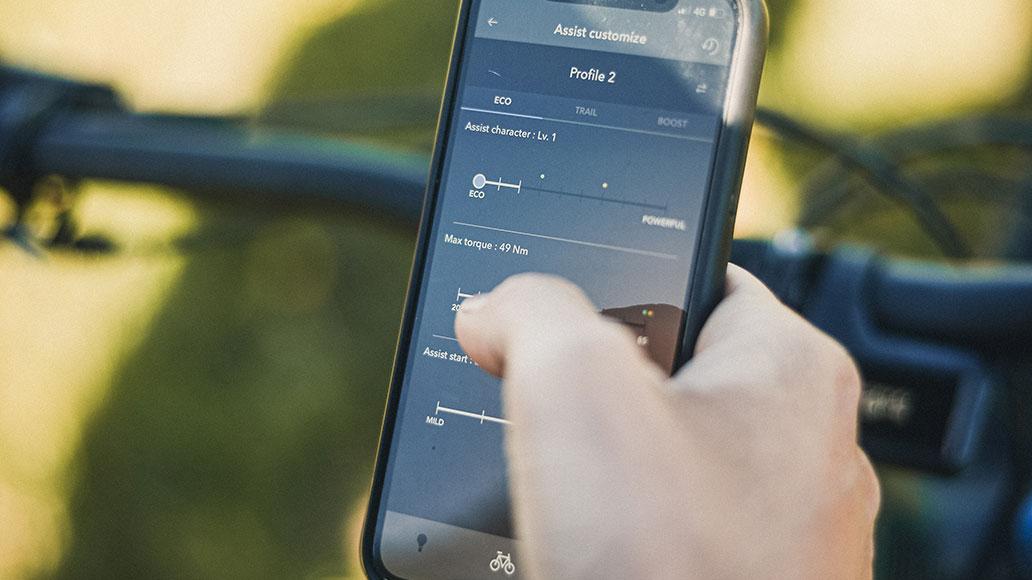 E-Tube Ride App, Shimano EP8, App