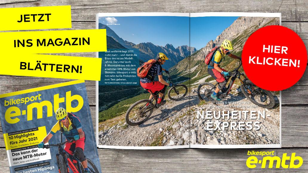 bikesport e-mtb 4/2020, Ausschnitt, Leseprobe, Teaser